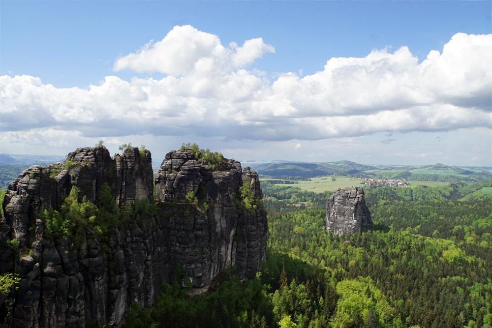 Wandern in der Sächsischen Schweiz: Wanderung zur Schrammsteinaussicht - der schönste Ausblick der Region