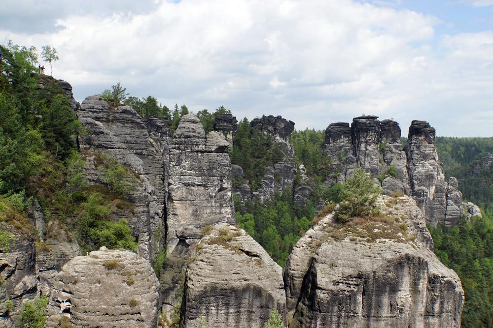 Wandern in der Sächsischen Schweiz: Wanderung zur Bastei - Aussicht