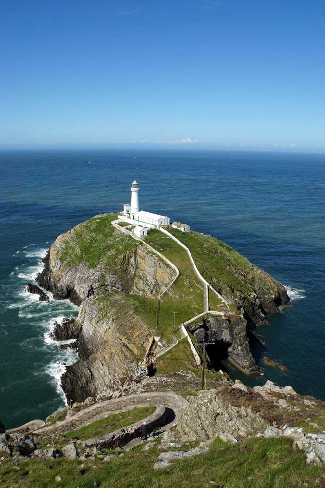 South Stack Lighthouse auf Anglesey, Wales