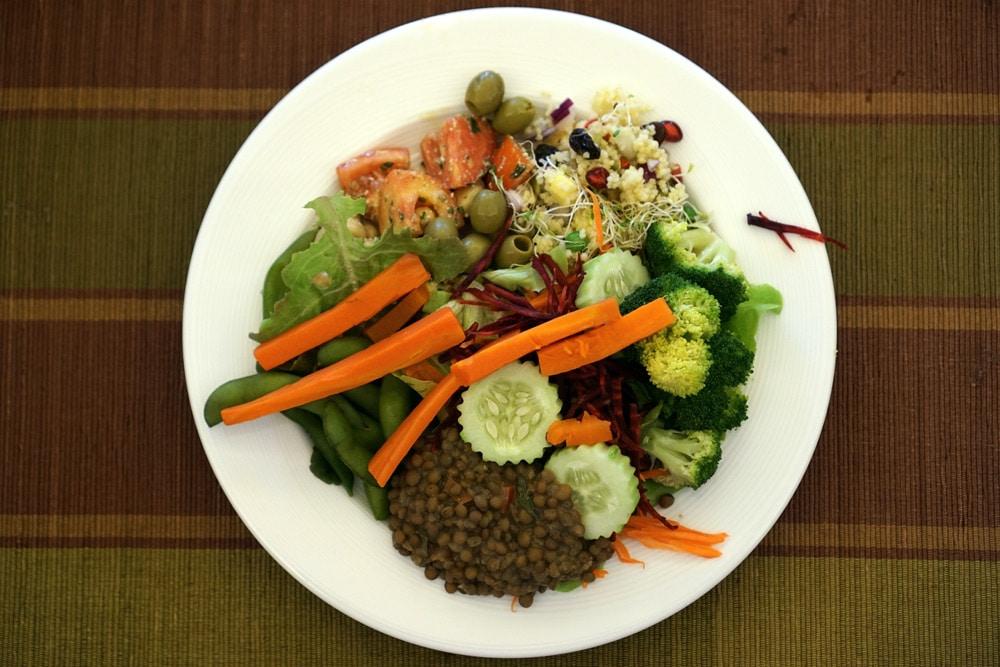 Thanyapura Health and Sports Resort Phuket - veganes Buffet im Restaurant DiLite