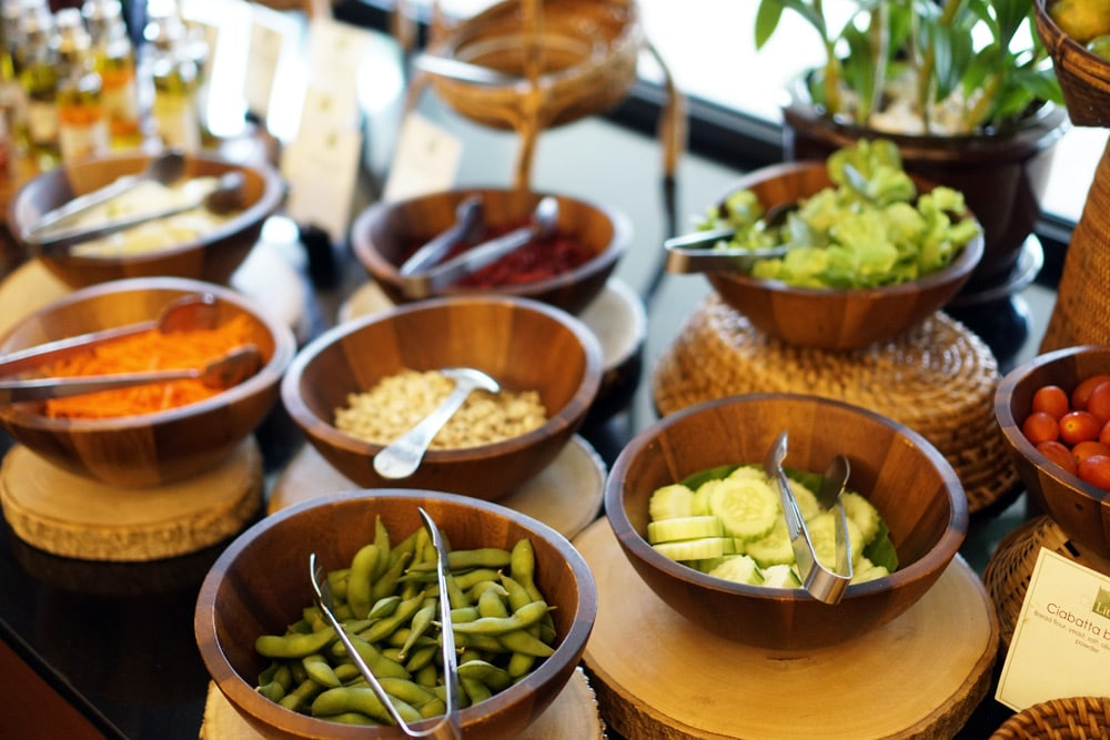 Thanyapura Health and Sports Resort Phuket - veganes Buffet im Restaurant DiLite