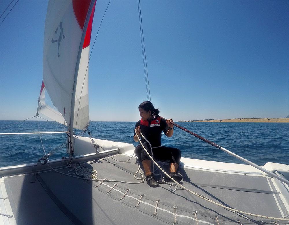 Segeln lernen auf Korfu in Griechenland: VDWS Katamaran Kurs (CAT-Sailing) mit Frosch Sportreisen
