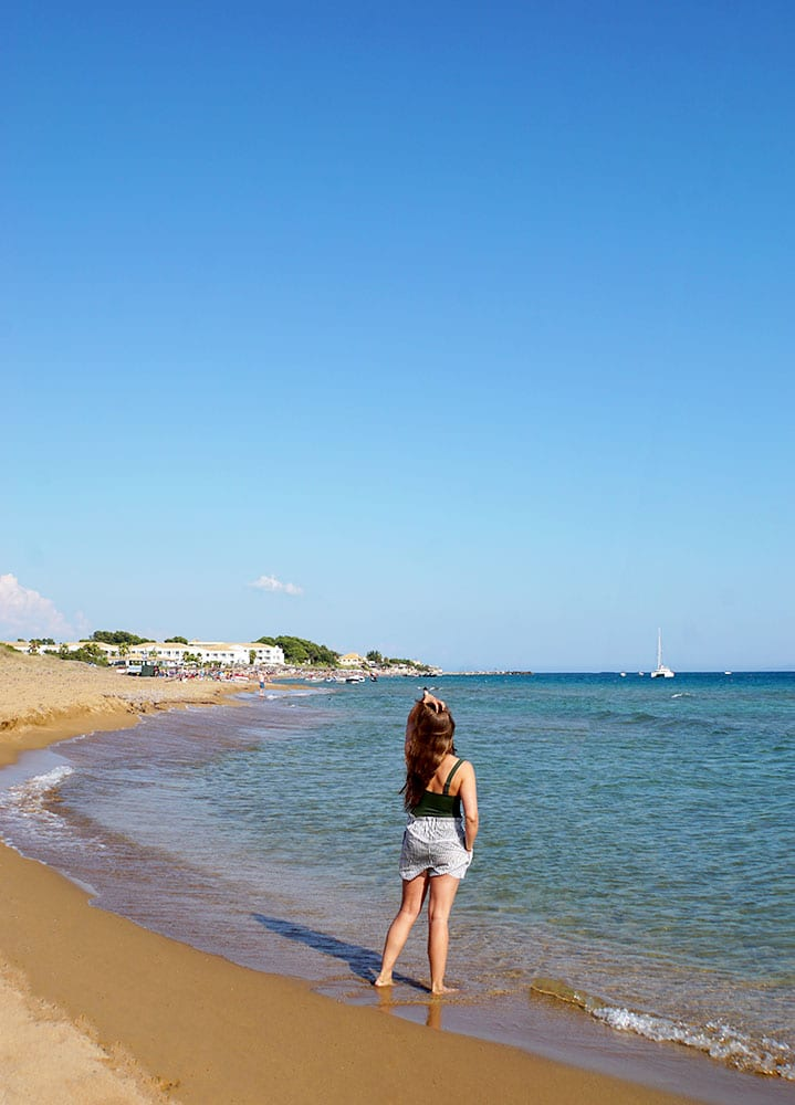 Agios Georgios auf Korfu, Griechenland - Dünen am Strand