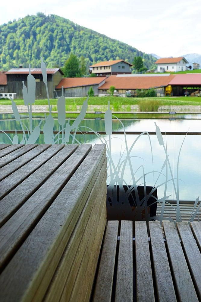 Haubers Naturresort: Meine Erfahrungen im Wellnesshotel im Allgäu - Sauna im Haus am See