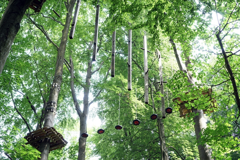 Teutoburger Wald: Klettern im Kletterpark am Johannisberg in Bielefeld