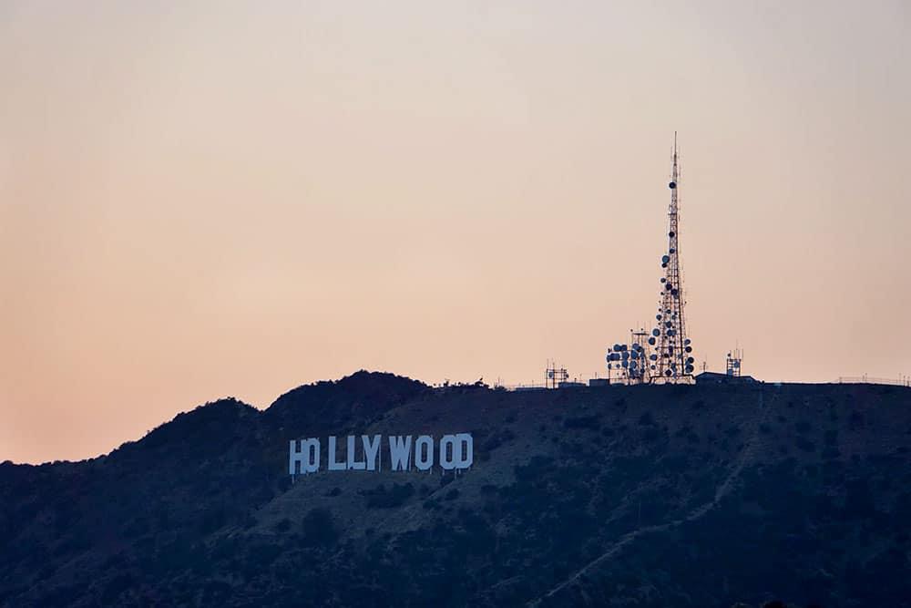 Griffith Observatory: Ausblick auf die Hollywood Hills und das Hollywood Sign zum Sonnenuntergang