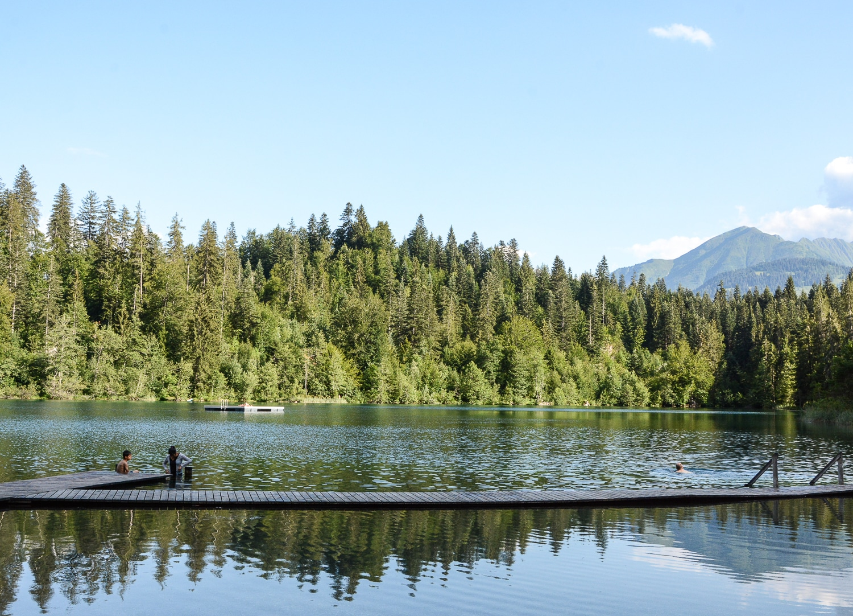 Flims und Laax, Bündner Berge: Wandern, Mountainbiken und Seen in der Schweiz - Crestasee