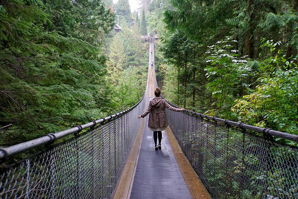 Kanada Rundreise: Highlights auf der Nationalparkroute von Vancouver nach Banff - Capilano Suspension Bridge Park in Vancouver
