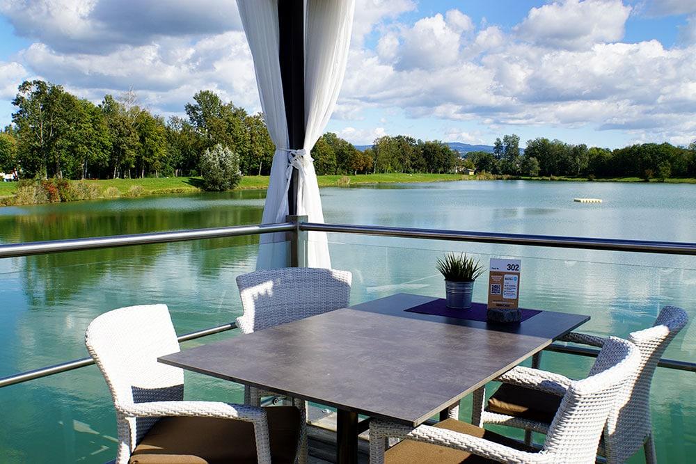 Donauradweg: Oberösterreich mit dem Fahrrad entlang der Donau entdecken - Feldkirchner Badeseen Restaurant Thalhammers