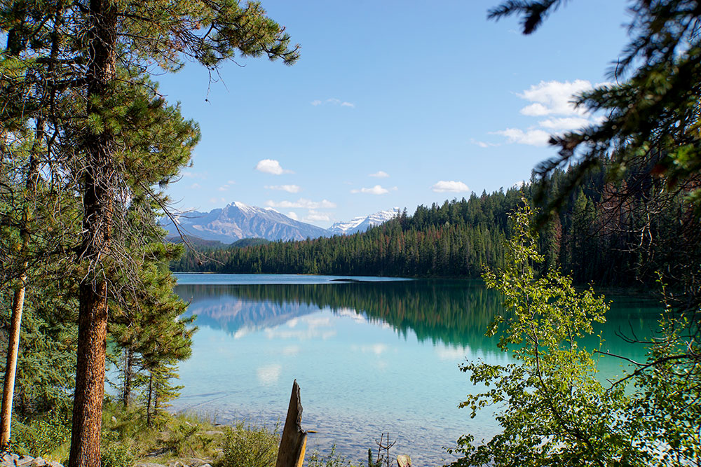 Kanada Rundreise: Highlights auf der Nationalparkroute von Vancouver nach Banff - Jasper Nationalpark, Valley of the Five Lakes Trail - Fifth Lake