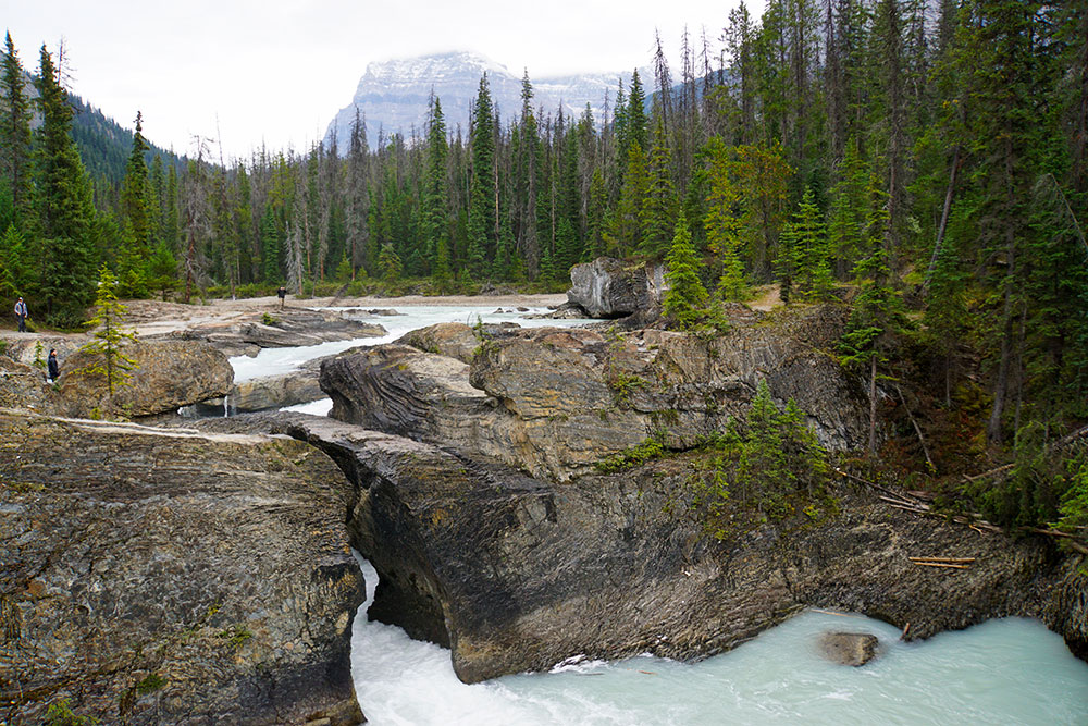 Kanada Rundreise: Highlights auf der Nationalparkroute von Vancouver nach Banff - Yoho Nationalpark, Natural Bridge am Kicking Horse River
