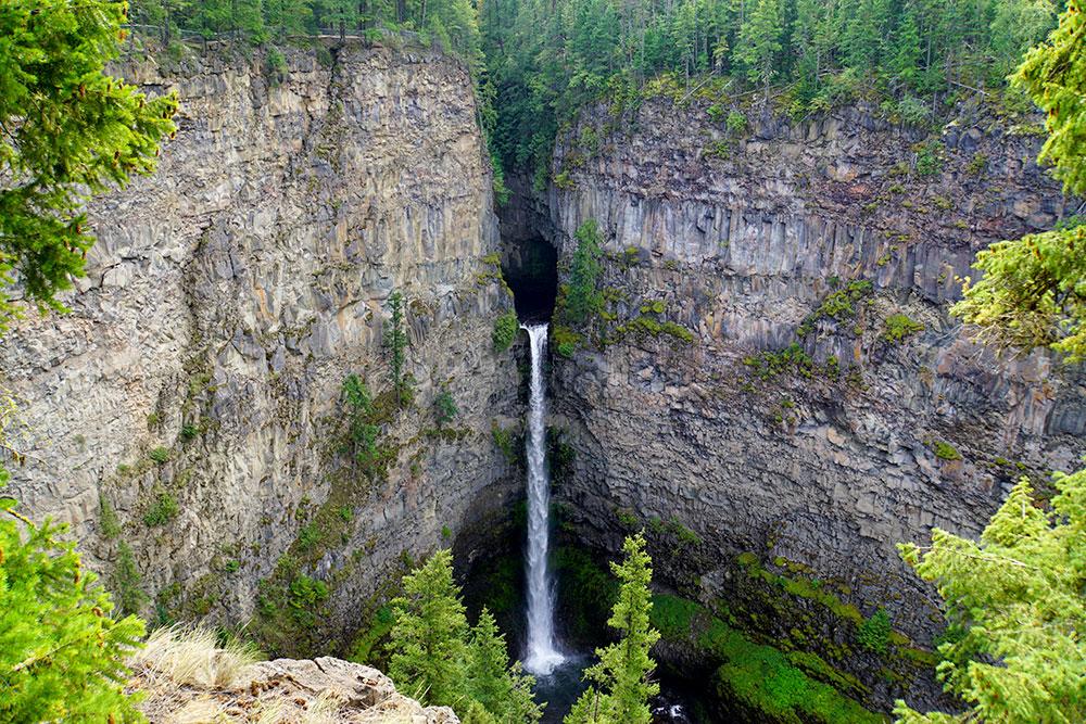 Kanada Rundreise: Highlights auf der Nationalparkroute von Vancouver nach Banff - Spahats Falls im Wells Gray Provincial Park