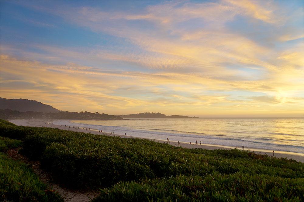 San Francisco Tagesausflug: Die schönsten Ausflugsziele rund um die Stadt - Carmel by the Sea Sonnenuntergang
