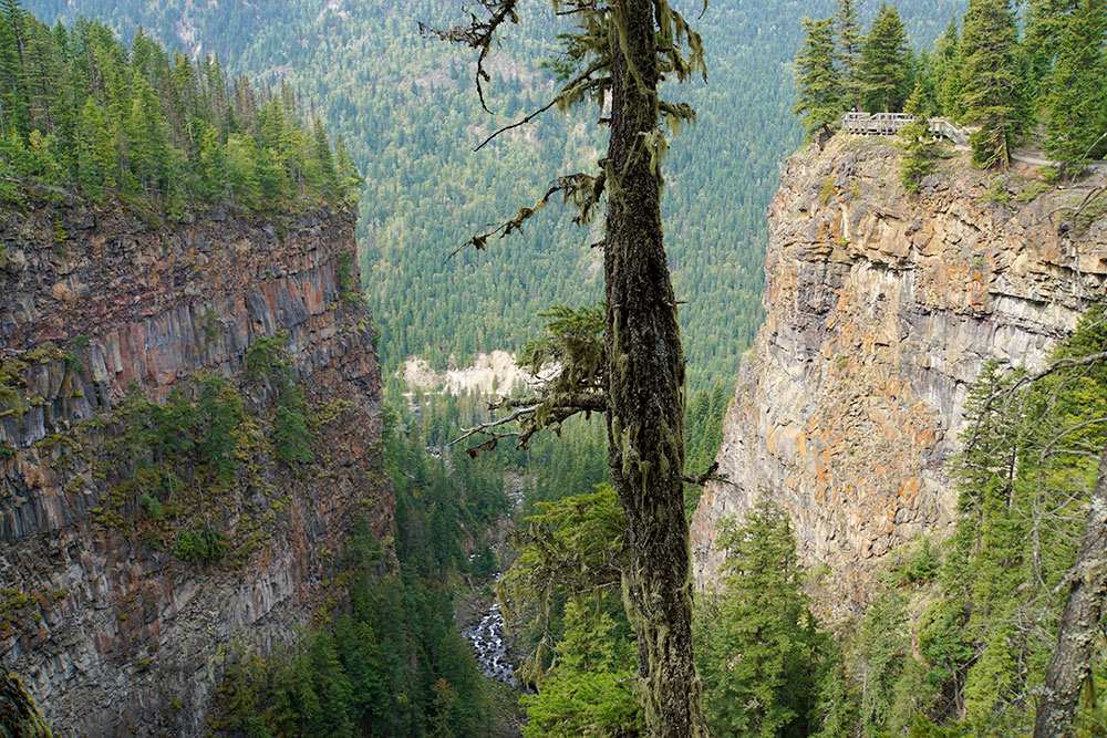 Wells Gray Provincial Park Sehenswürdigkeiten - die Highlights in British Columbia - Spahats Falls