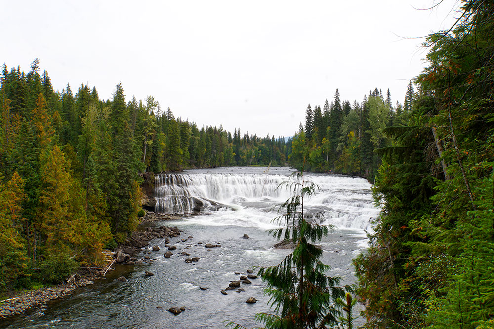 Wells Gray Provincial Park Sehenswürdigkeiten - die Highlights in British Columbia - Dawson Falls