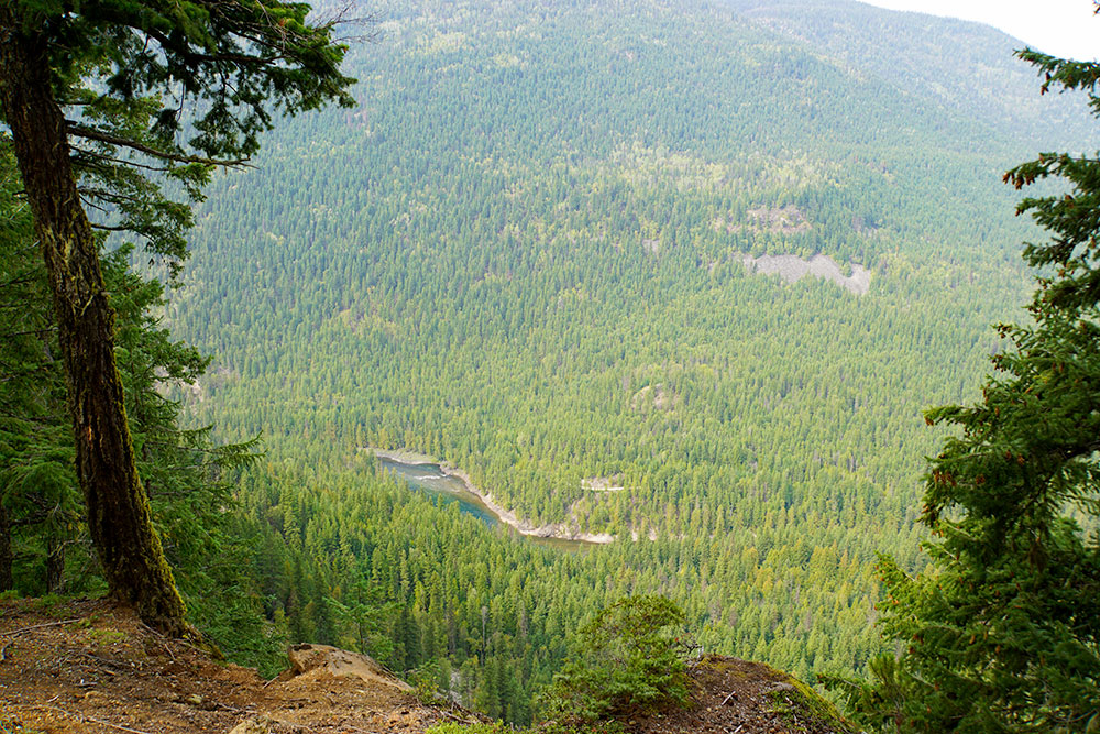 Wells Gray Provincial Park Sehenswürdigkeiten - die Highlights in British Columbia - Shadden Lookout