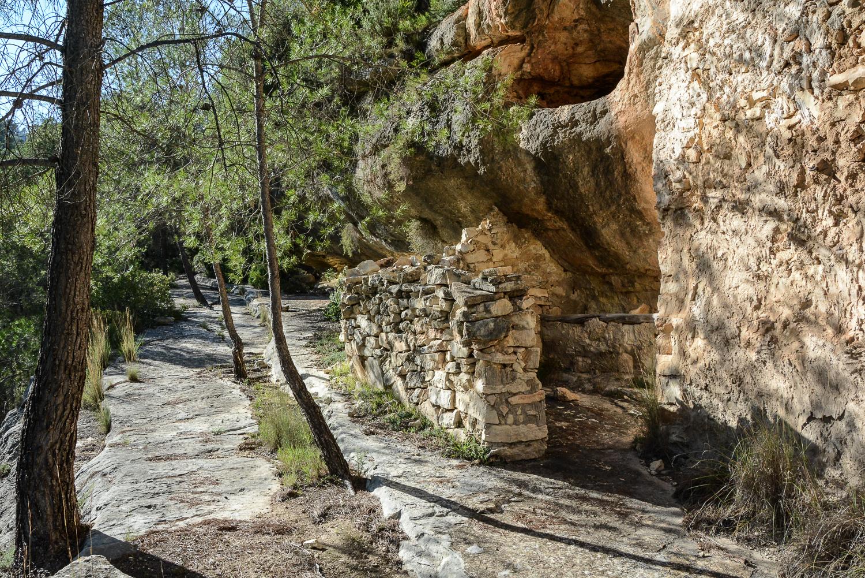 Valencia und seine Berge: Wandern im Hinterland - Barranco Moreno, Charco de la Madera Steinhäuser