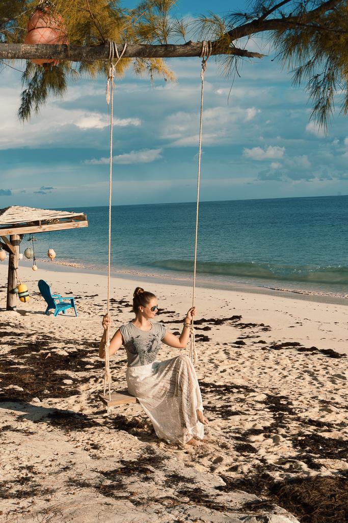 Kitesurfen auf den Bahamas: Cat Island und Greenwood Beach Resort Erfahrungen - Schaukel