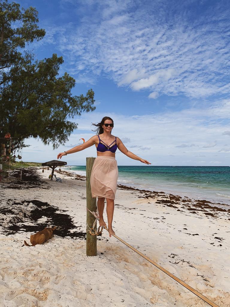 Kitesurfen auf den Bahamas: Cat Island und Greenwood Beach Resort Erfahrungen - Slackline