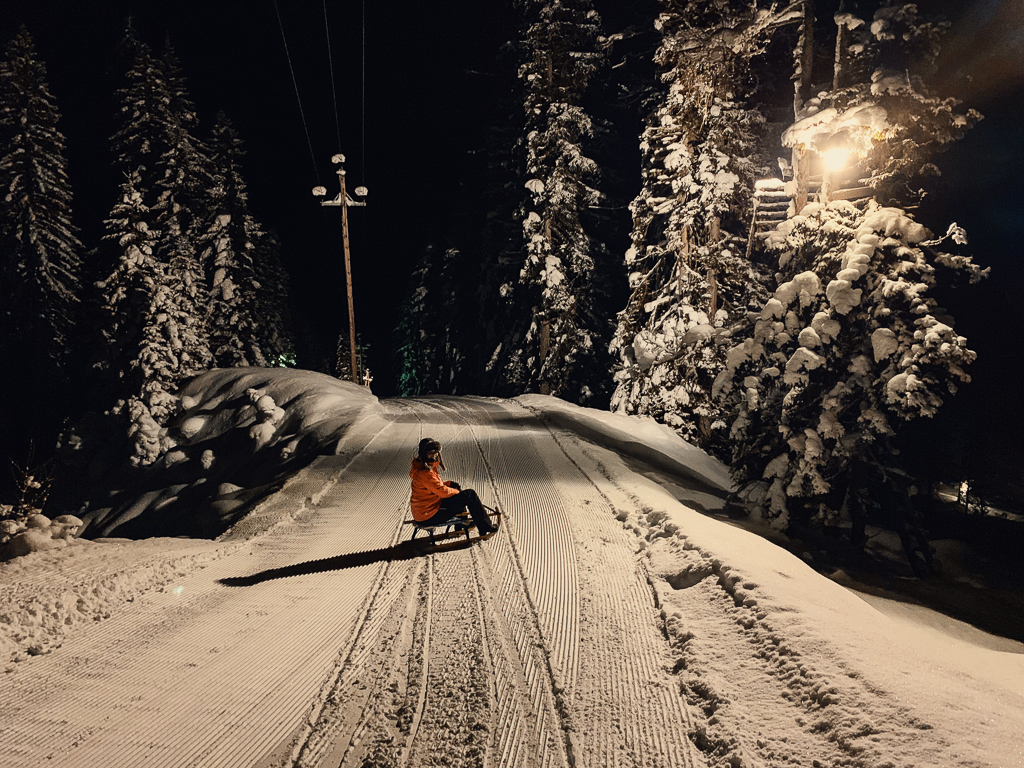 Hotel Steiner: Meine Erfahrungen beim Skifahren und Wellness in Obertauern - Nachtrodeln auf der Gnadenalm