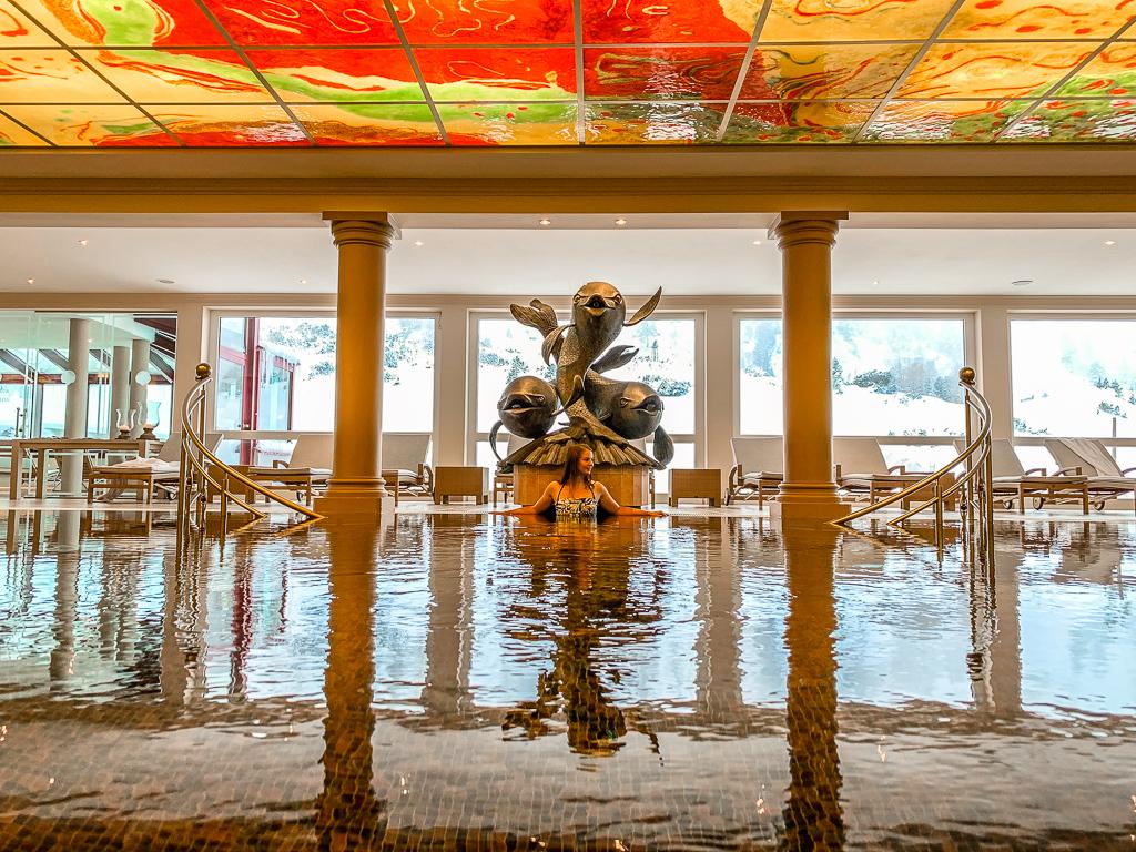 Hotel Steiner: Meine Erfahrungen beim Skifahren und Wellness in Obertauern - Pool