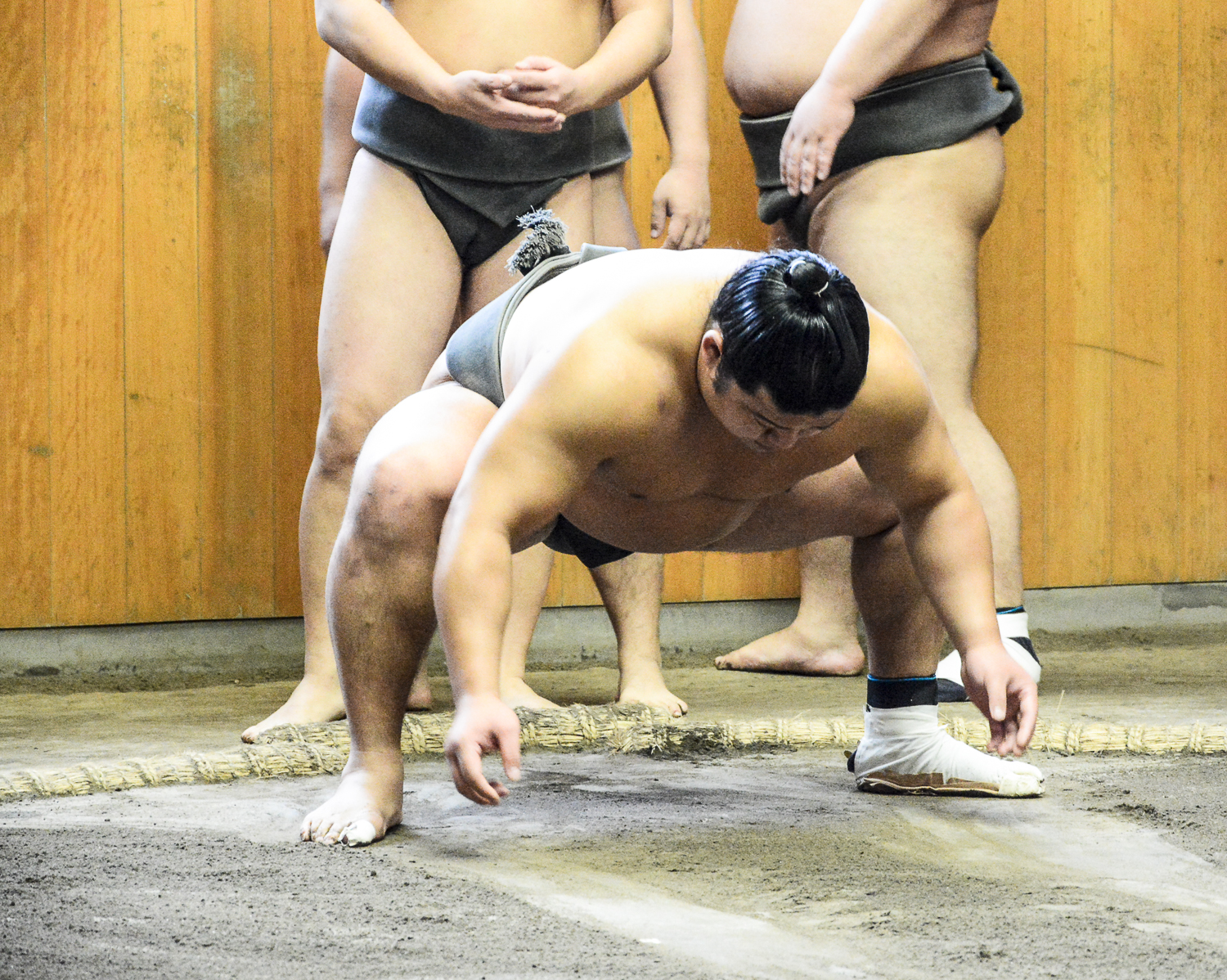 Tokio Highlights in 48 Stunden: Sumoringer beim Training