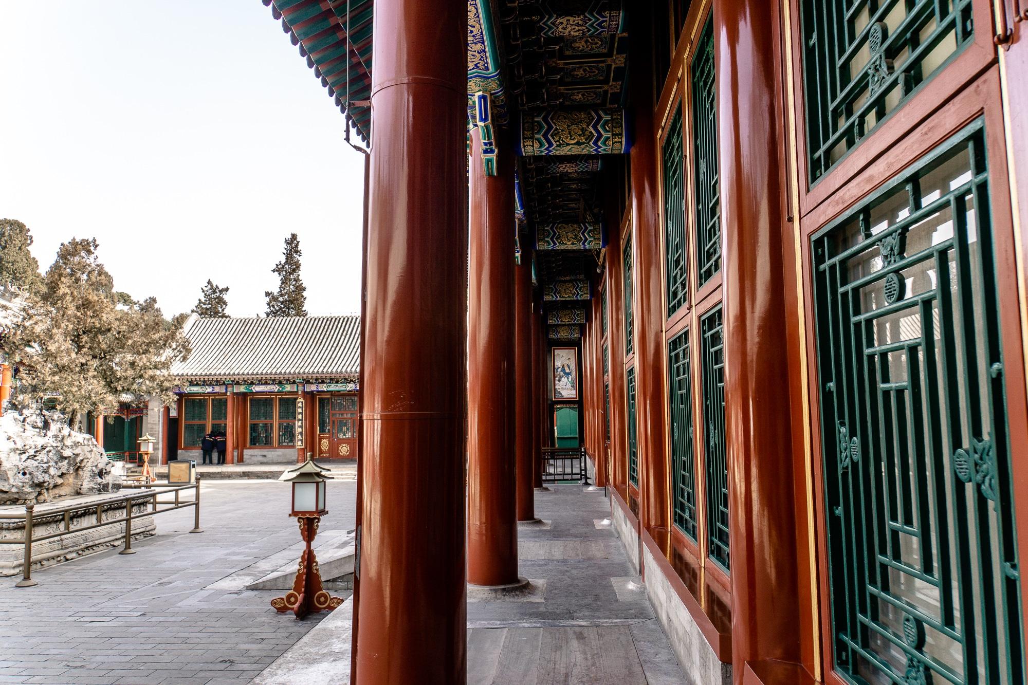 Sommerpalast in Peking: Die schönsten Sehenswürdigkeiten & Highlights - Halle der Freude und Langlebigkeit / Hall of Benevolence and Longevity