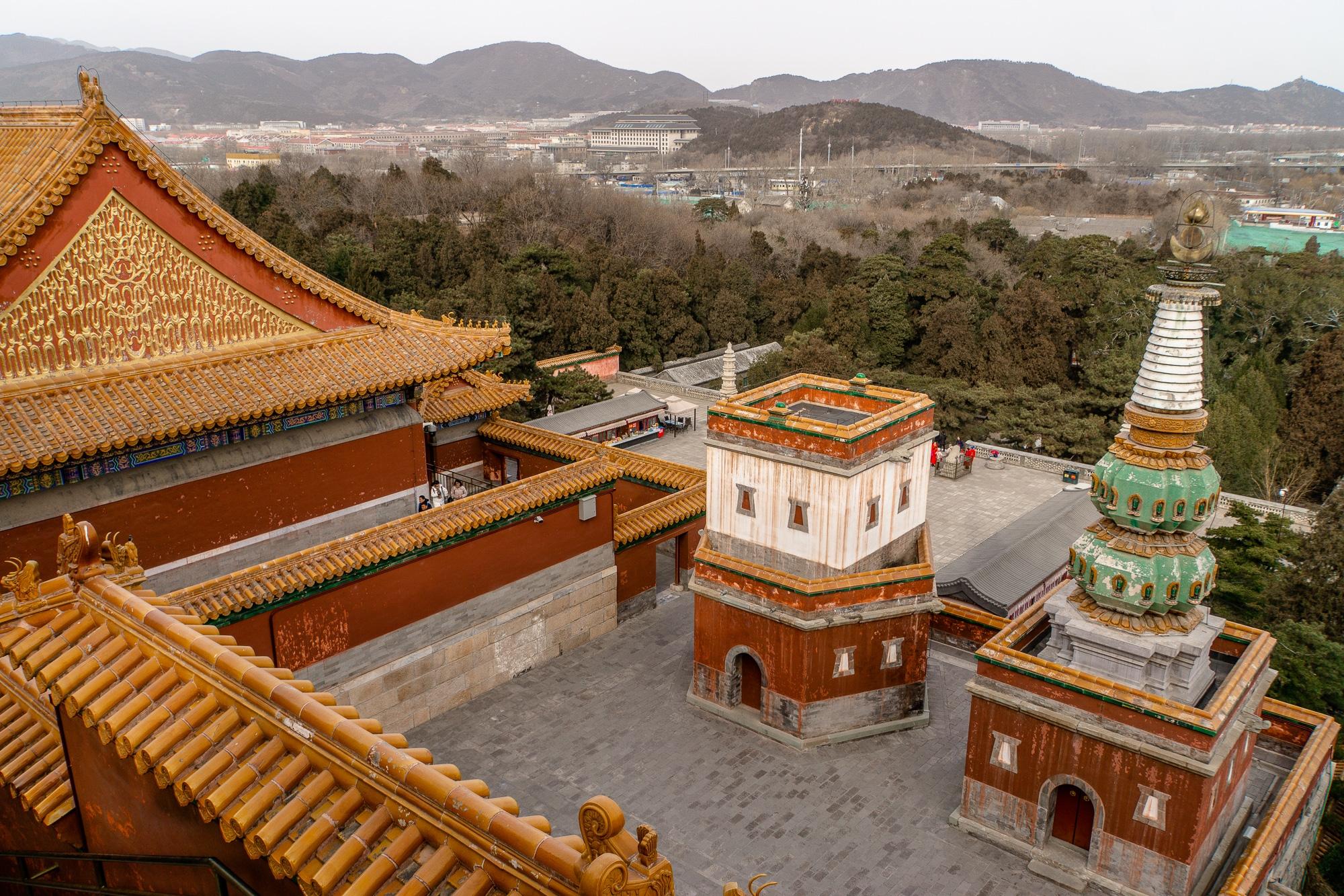 Sommerpalast in Peking: Die schönsten Sehenswürdigkeiten & Highlights - Pavillon der vier großen Kontinente / Four Great Regions