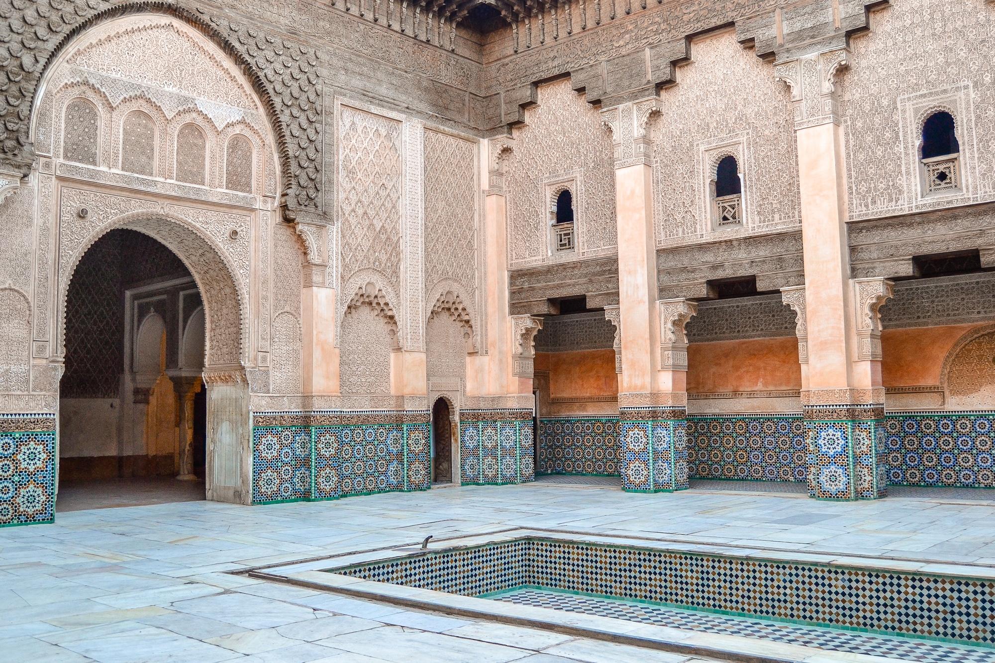 Top Ten Marrakesch Sehenswürdigkeiten - meine Marrakesch Highlights: Medersa Ben Youssef