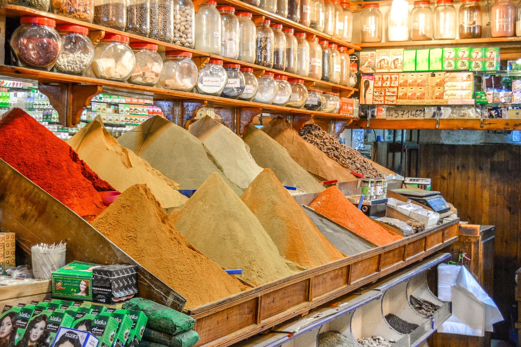 Top Ten Marrakesch Sehenswürdigkeiten - meine Marrakesch Highlights: Souk Medina Gewürzmarkt