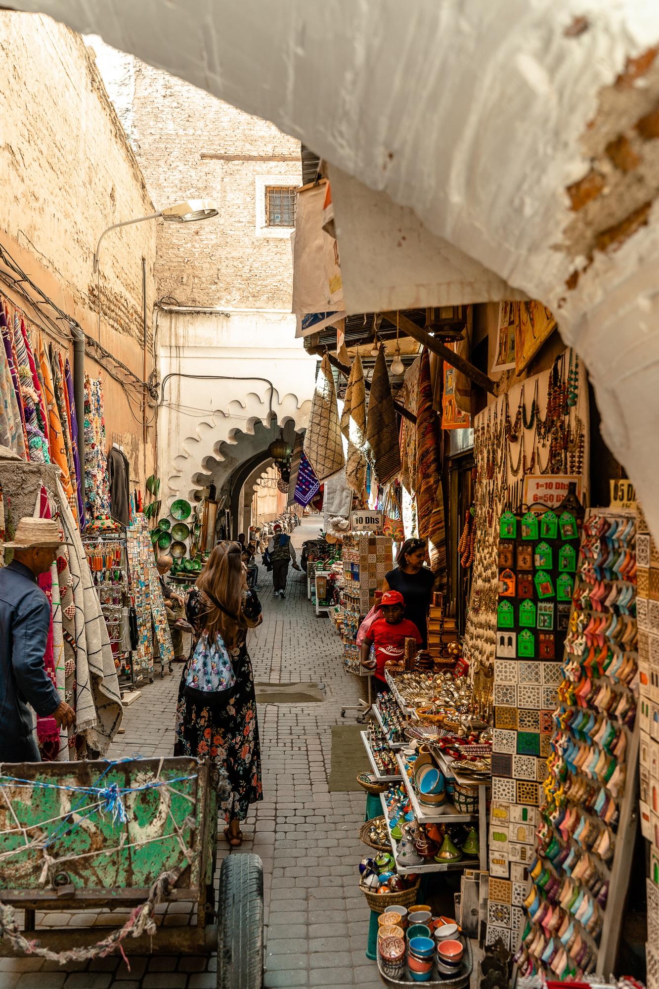 Top Ten Marrakesch Sehenswürdigkeiten - meine Marrakesch Highlights: Souk Medina