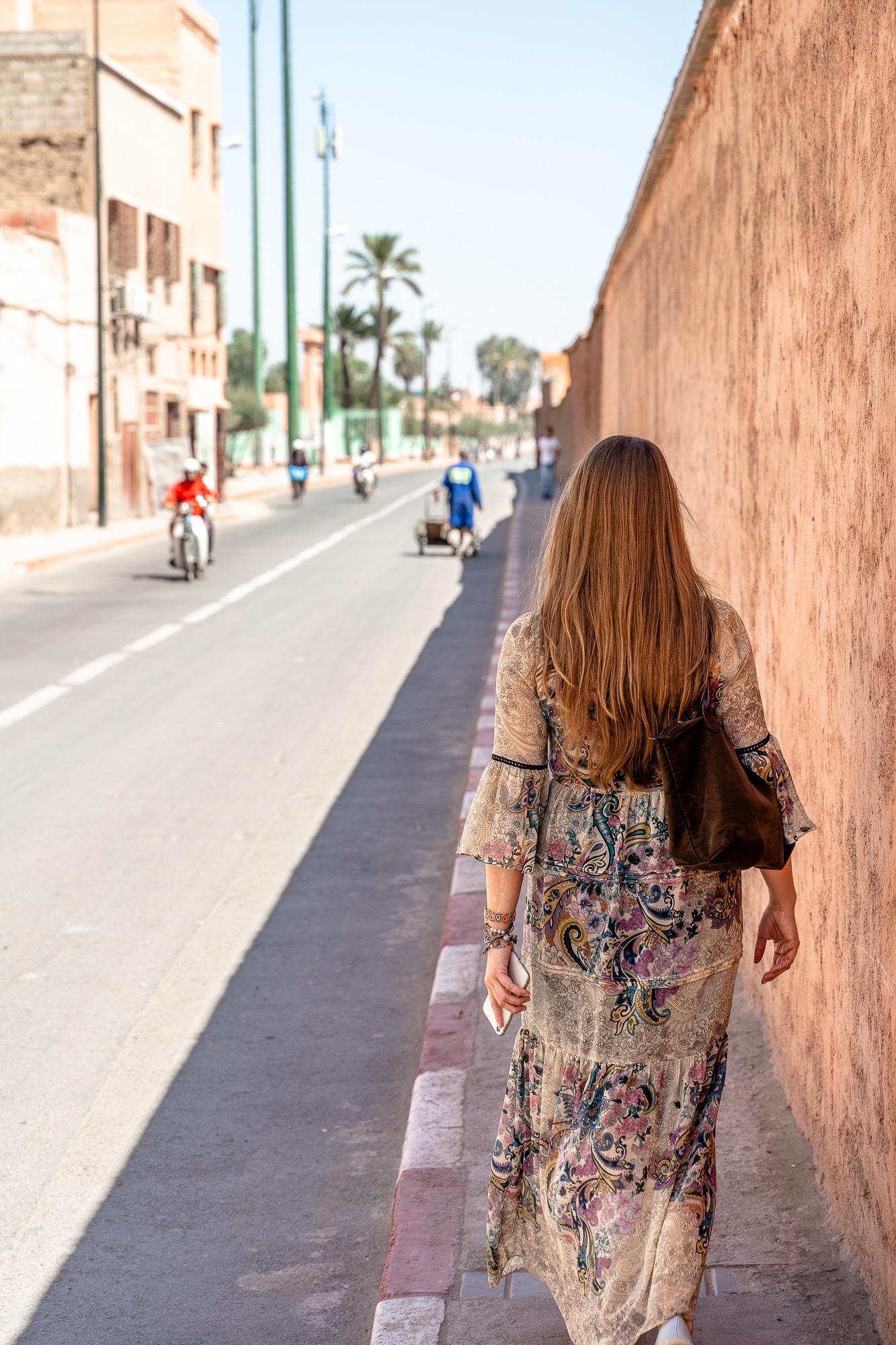 Top Ten Marrakesch Sehenswürdigkeiten - meine Marrakesch Highlights: Straßen außerhalb der Medina