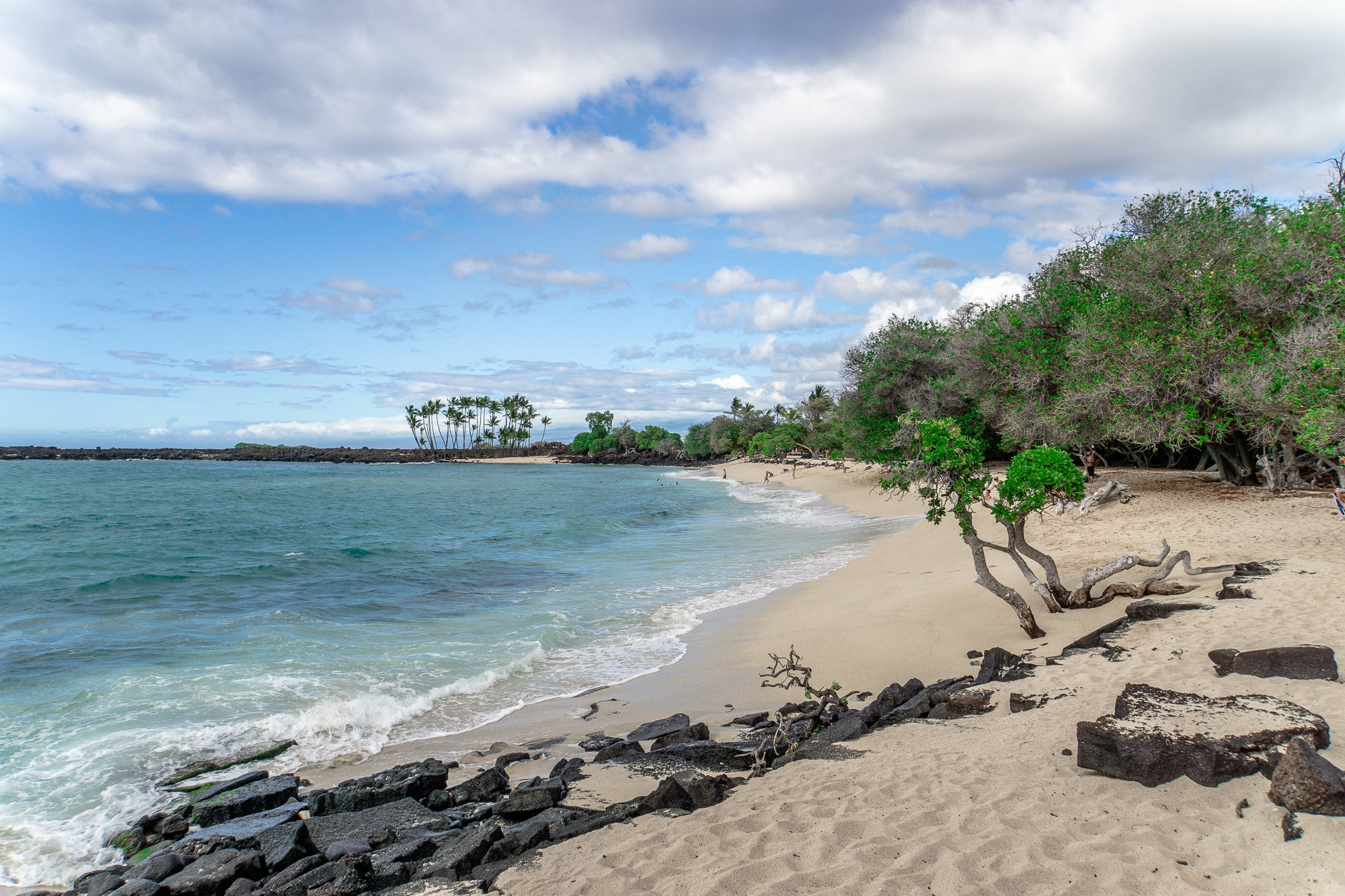 Makalawena Beach auf Big Island, Hawaii