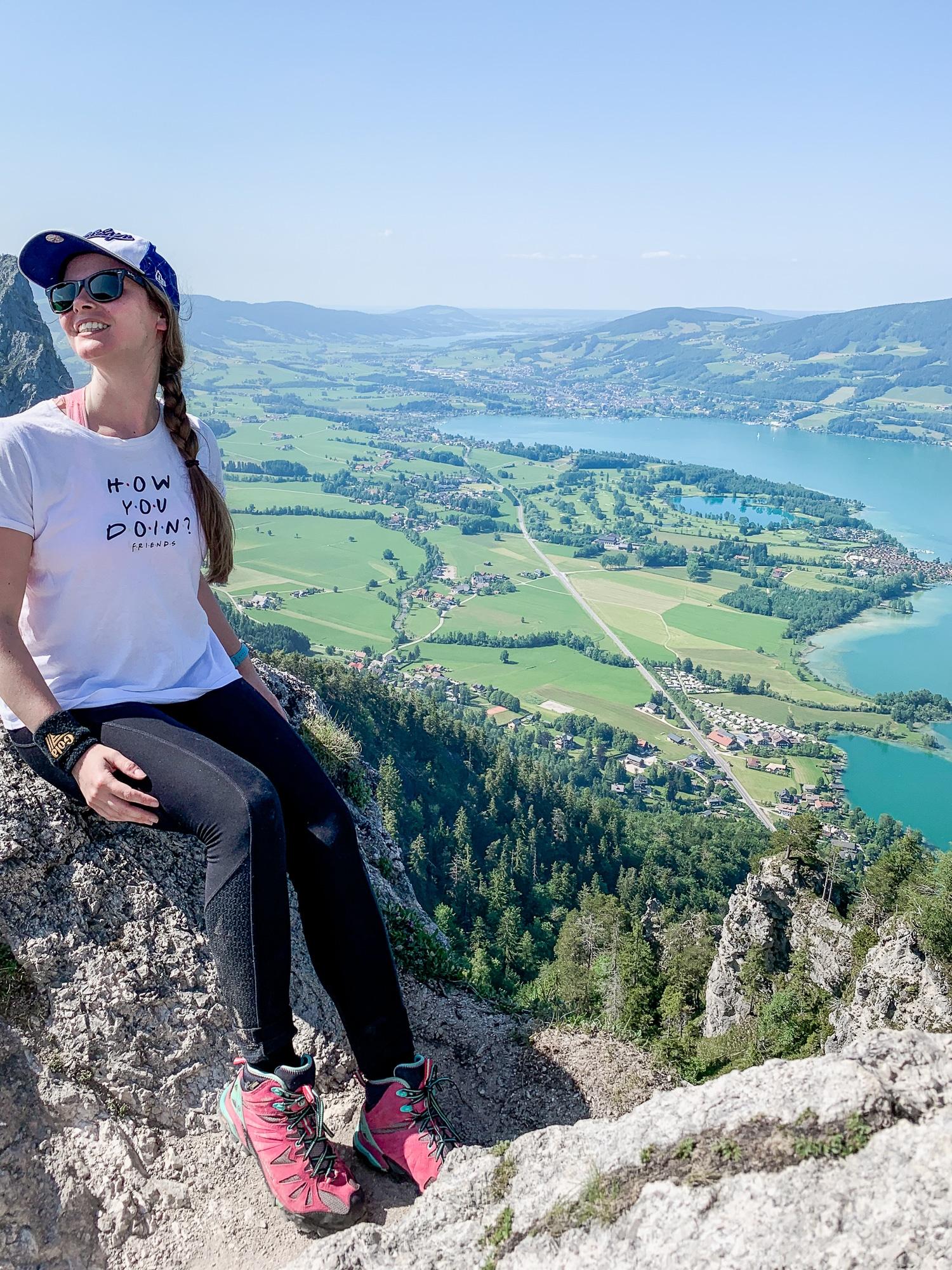 BergeSeen Trail: Erfahrungen auf der Weitwanderung im Salzkammergut - Etappe 4, Aussicht Almkogel