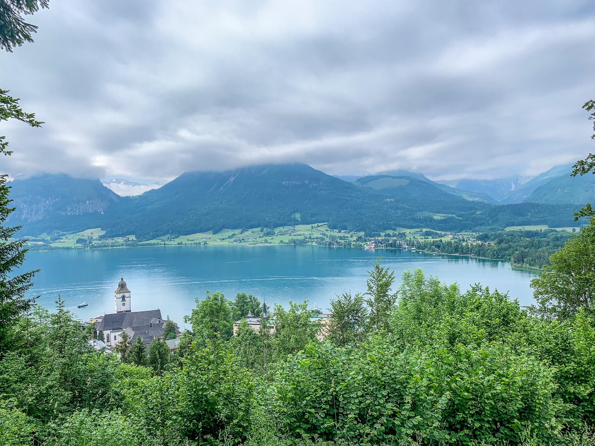 BergeSeen Trail: Erfahrungen auf der Weitwanderung im Salzkammergut - Etappe 4, Ausblick Mondsee