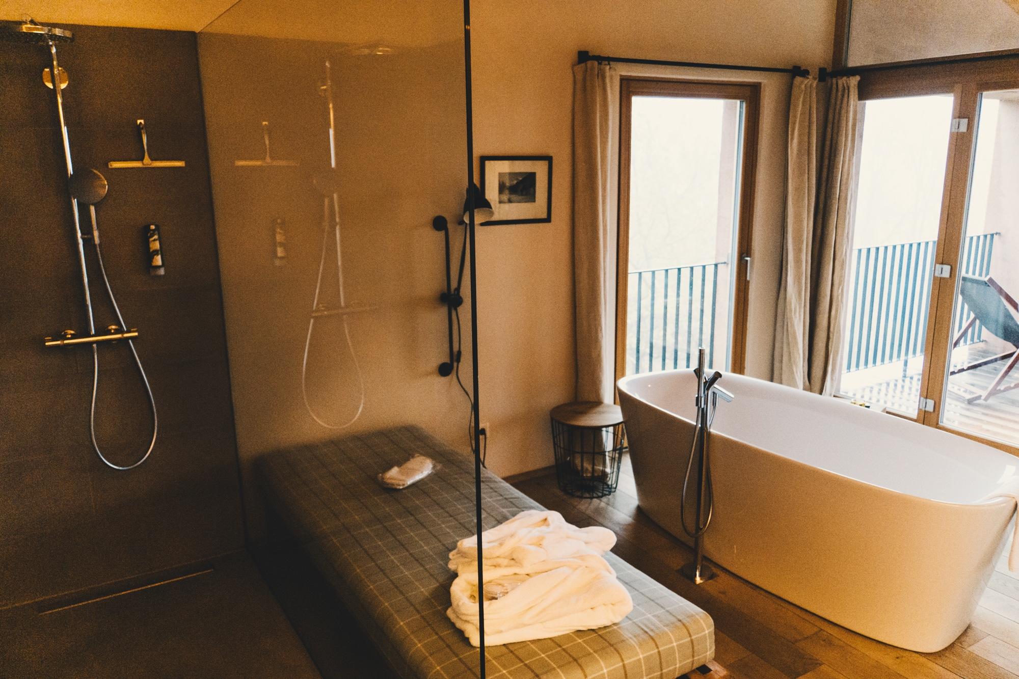 PURESLeben Erfahrungen: Das Landhaus Altenbach in der Südsteiermark - Badezimmer