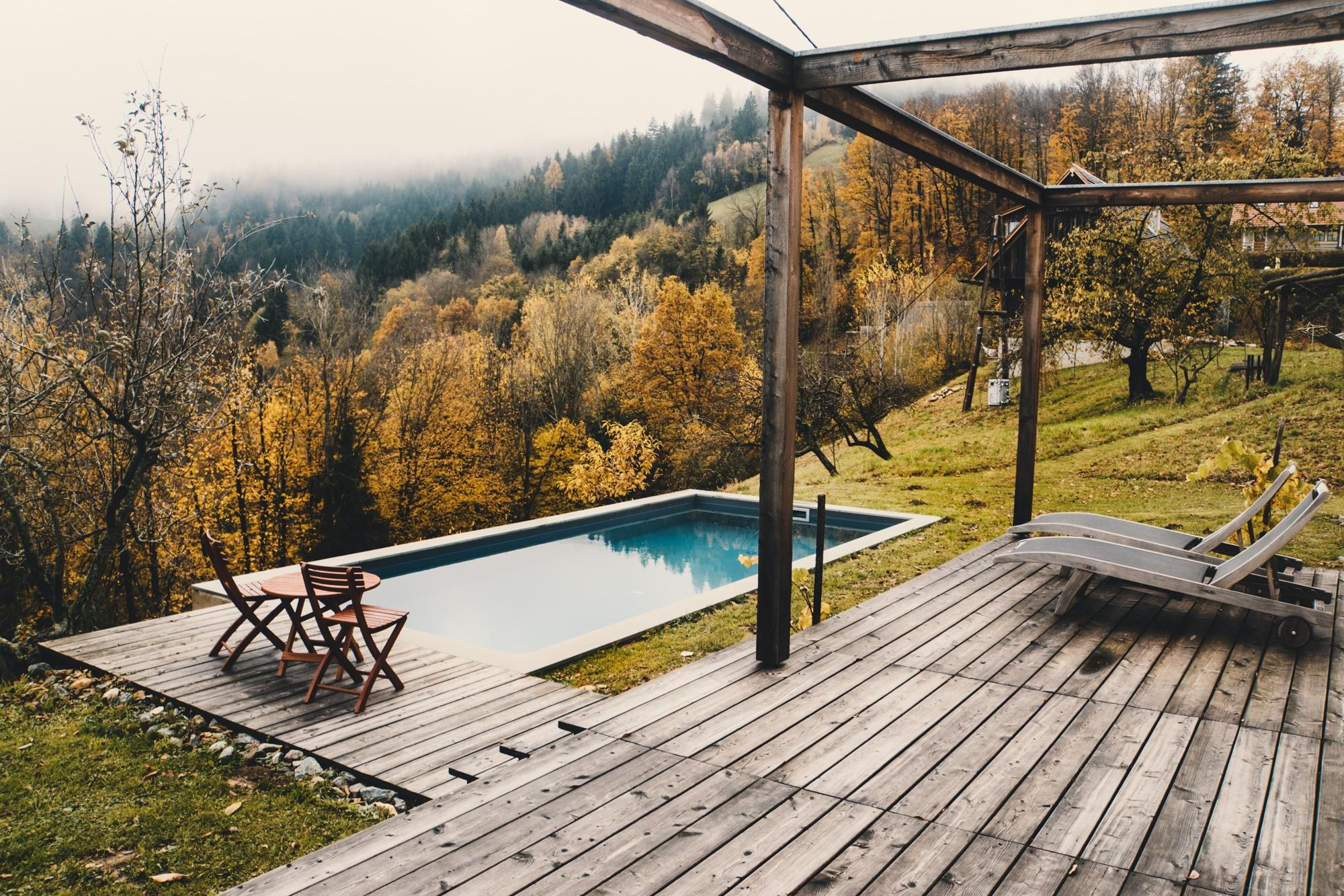PURESLeben Erfahrungen: Das Landhaus Altenbach in der Südsteiermark - Pool
