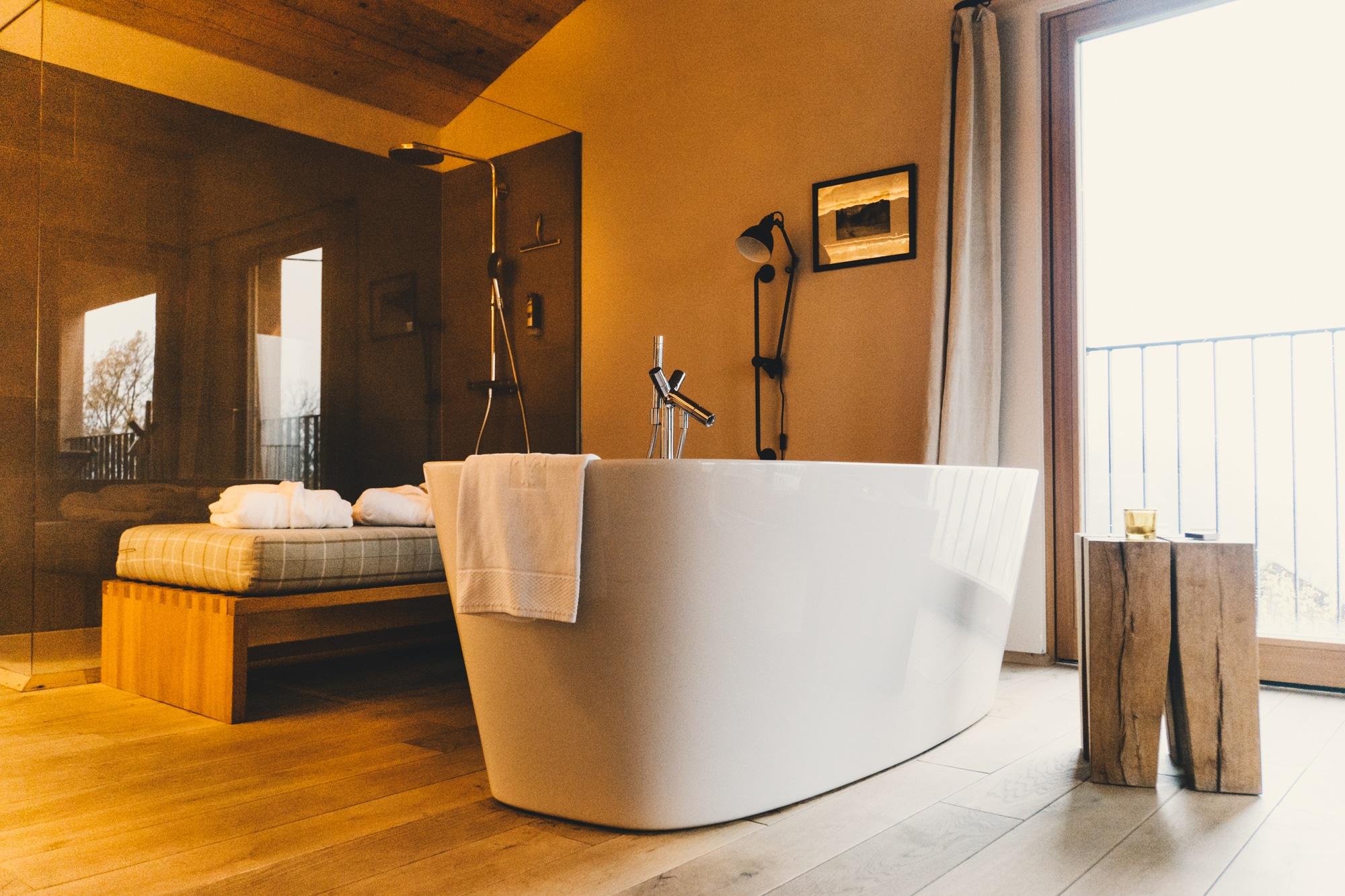 PURESLeben Erfahrungen: Das Landhaus Altenbach in der Südsteiermark - Badewanne
