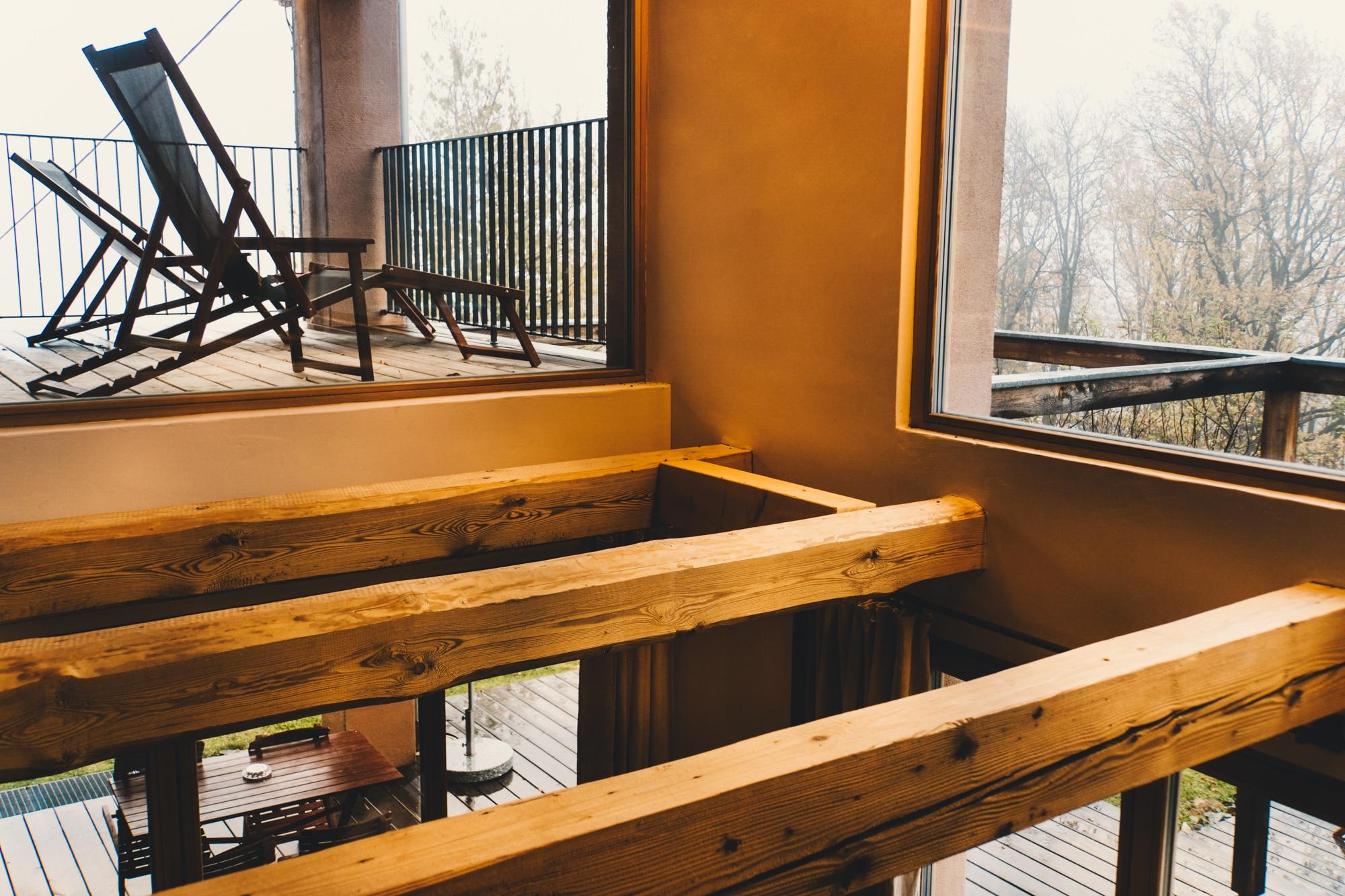 PURESLeben Erfahrungen: Das Landhaus Altenbach in der Südsteiermark - Empore und Balkon