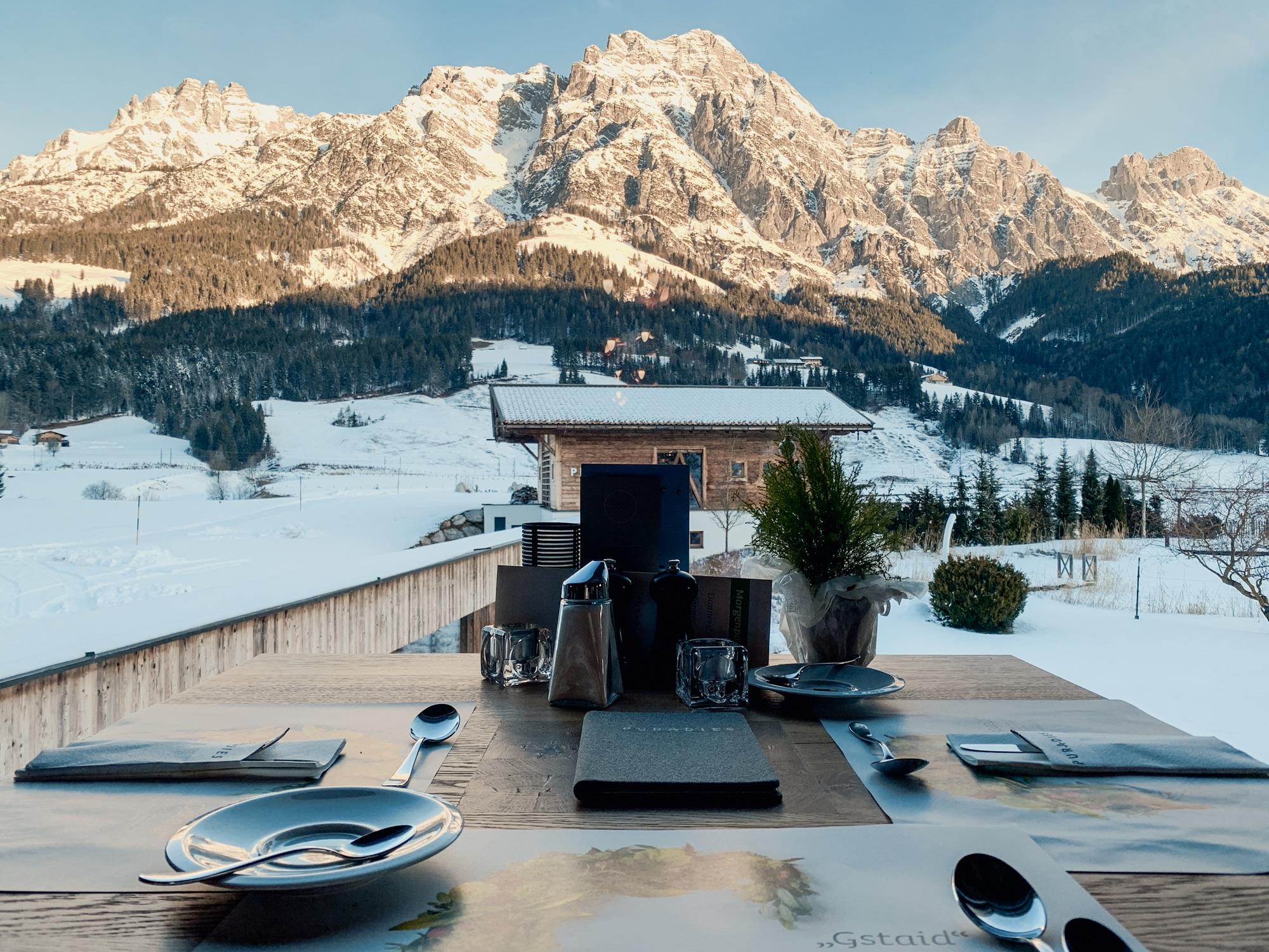 Puradies Leogang: Das Wellnesshotel und Skihotel direkt an der Piste - Frühstück