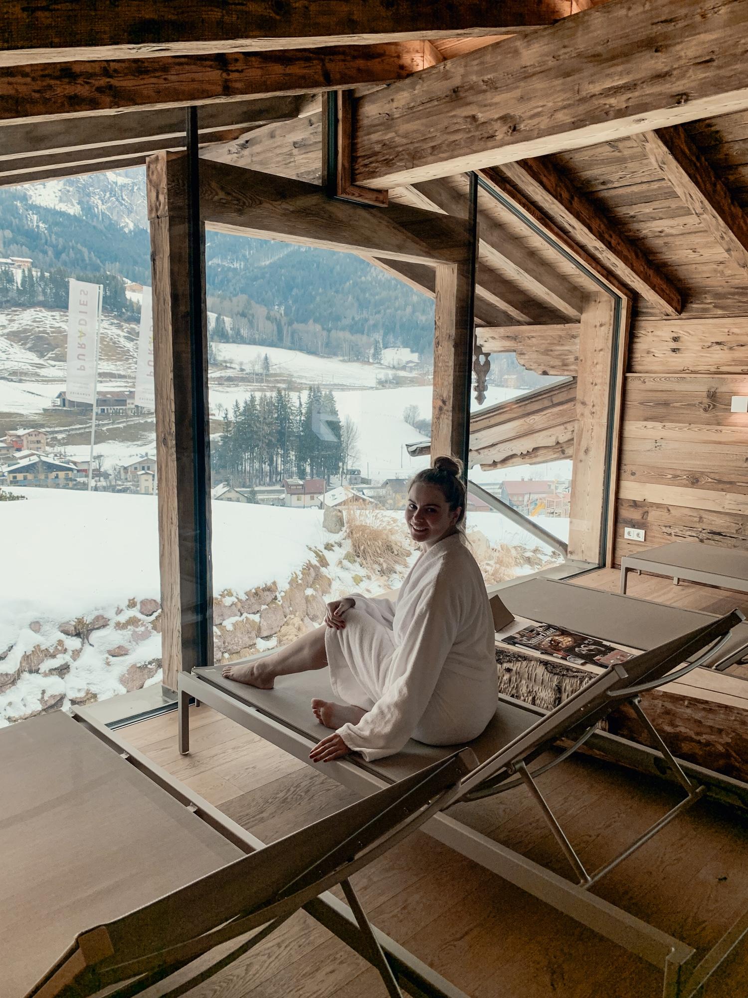 Puradies Leogang: Das Wellnesshotel und Skihotel direkt an der Piste - Ruhebereich Spa