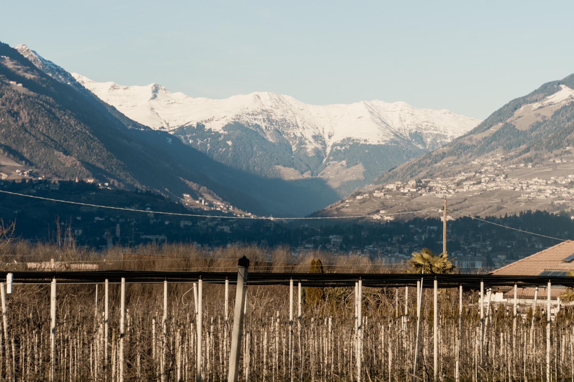 Lana, Südtirol: Winterurlaub mit Skifahren, Wellness und leckerem Essen - Aussicht Berge