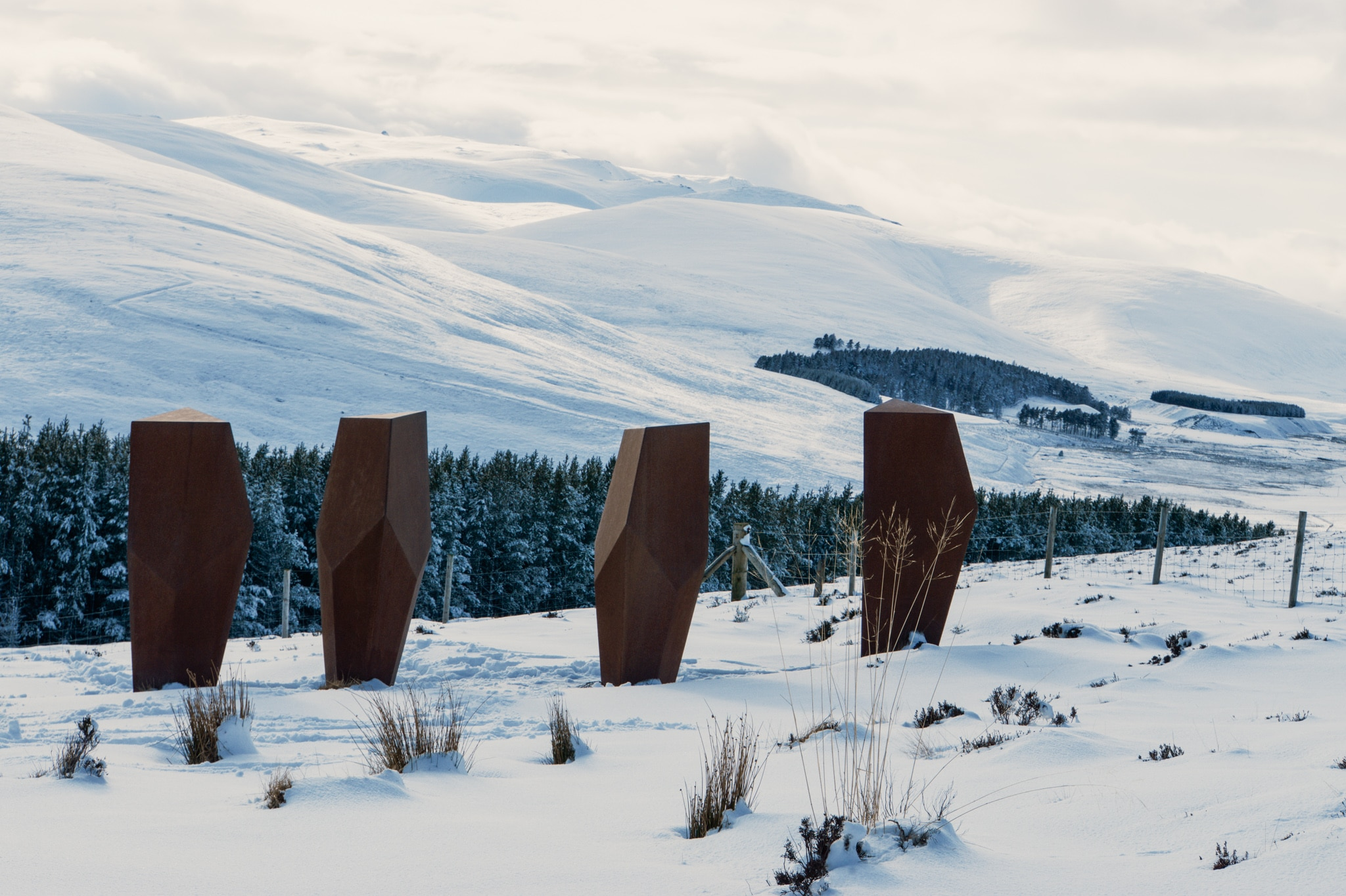 Cairngorms Nationalpark: Die SnowRoads Scenic Route in den Highlands - Art Installation The Watchers