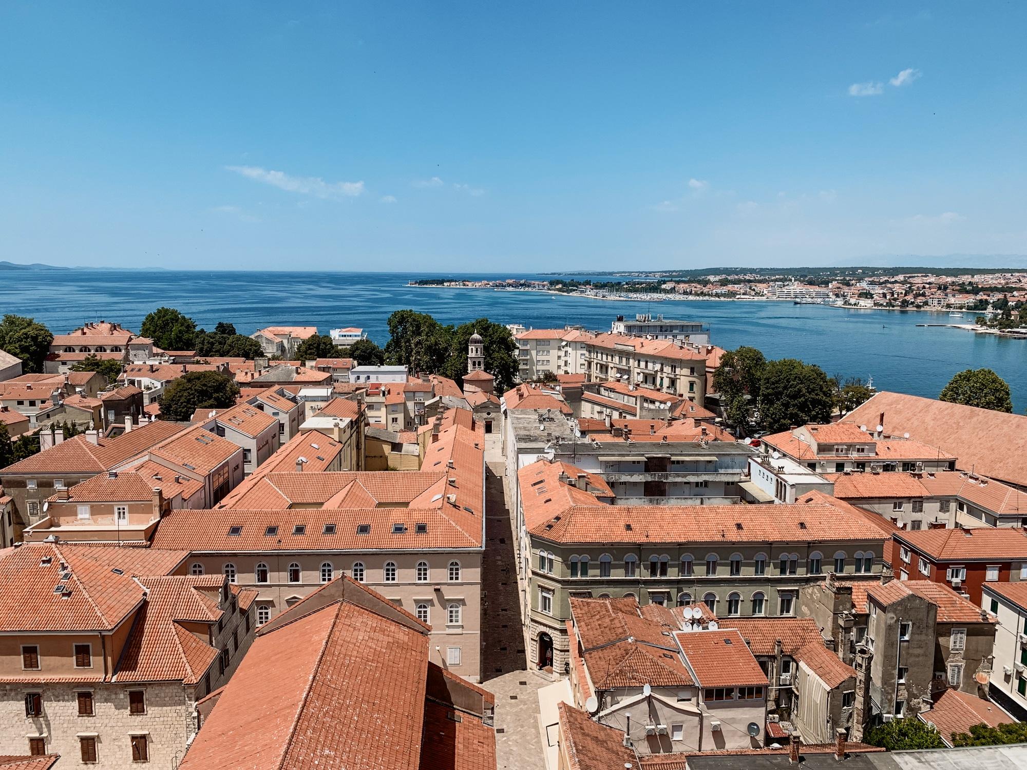 Sv Donat Kirche in Zadar - Aussicht vom Glockenturm