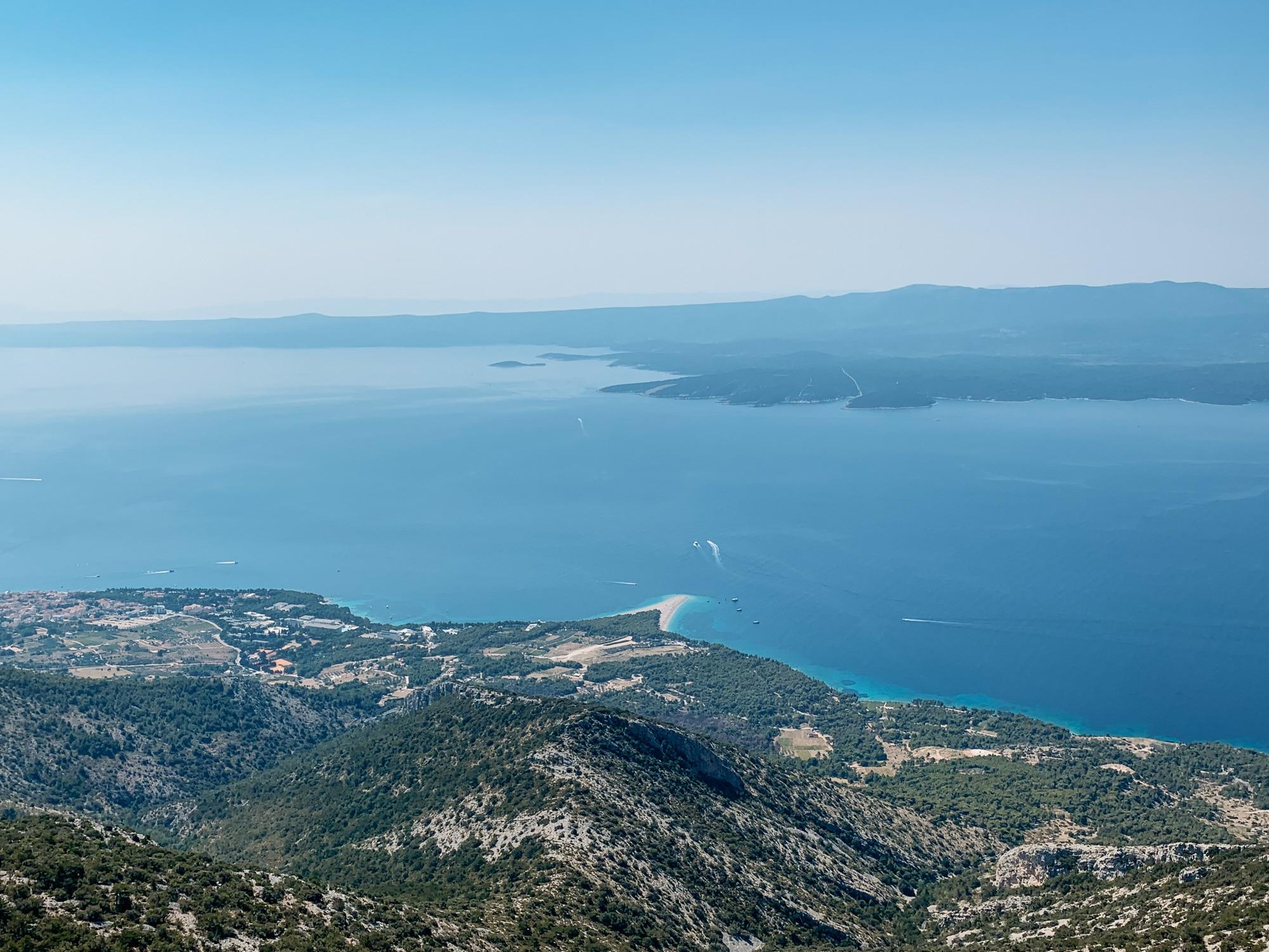 Brac Sehenswürdigkeiten und Highlights: Aussicht auf das Goldene Horn vom Aussichtspunkt Vidova Gora