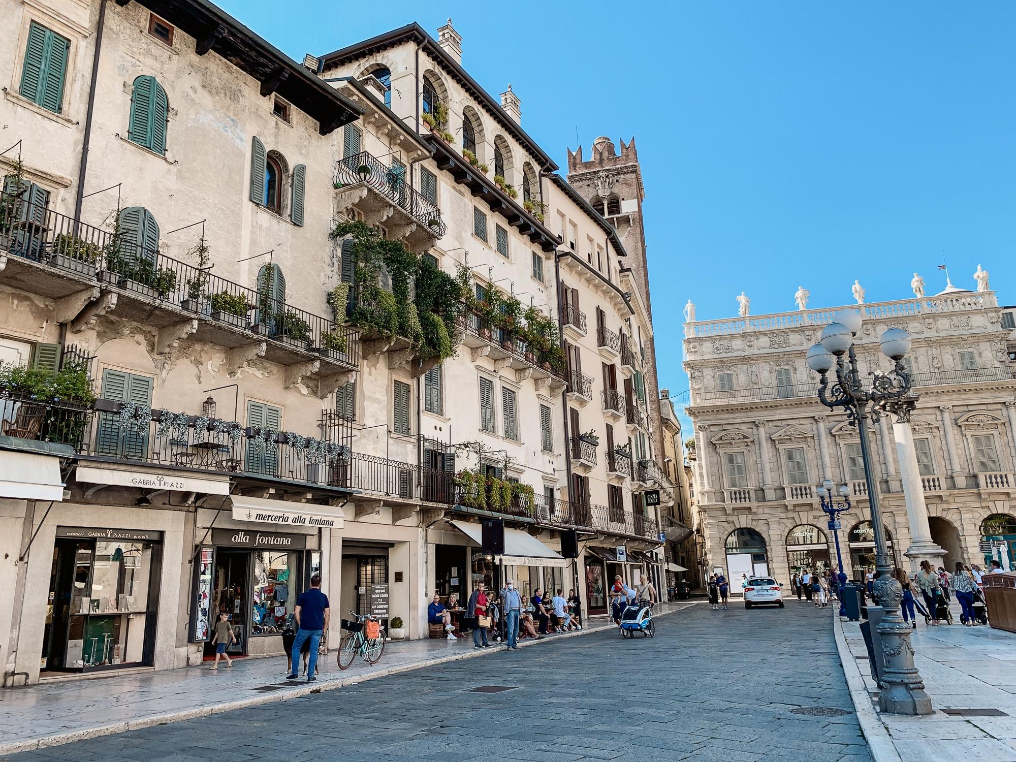 Verona Sehenswürdigkeiten - Marktplatz
