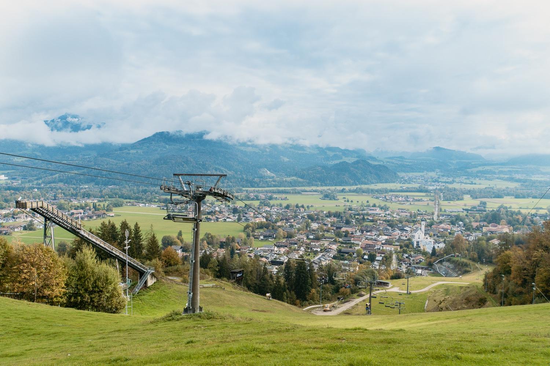 Oberaudorf: Sehenswürdigkeiten, Ausflüge und schönste Wanderungen - Bergbahn Hocheck Aussicht Mittelstation