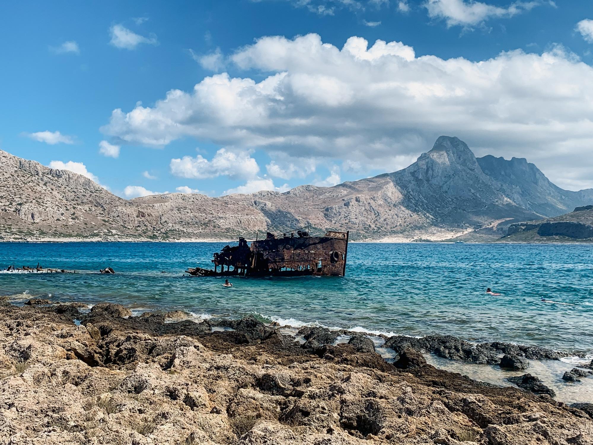 Schönste Strände auf Kreta: Das sind die sechs schönsten Kreta Strände - Gramvousa Pirateninsel Schiffswrack