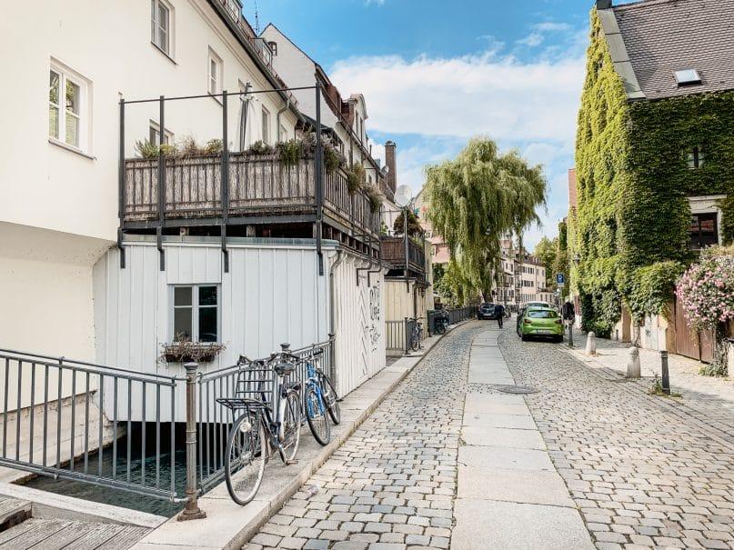 Augsburg Sehenswürdigkeiten: Altstadt Mittlerer Lech