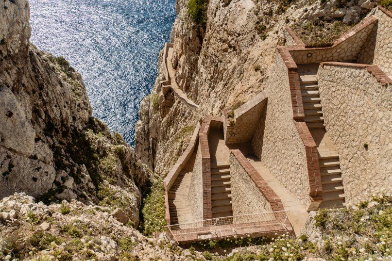 Capo Caccia Escala del Cabirol - Sehenswürdigkeiten Sardinien Norden
